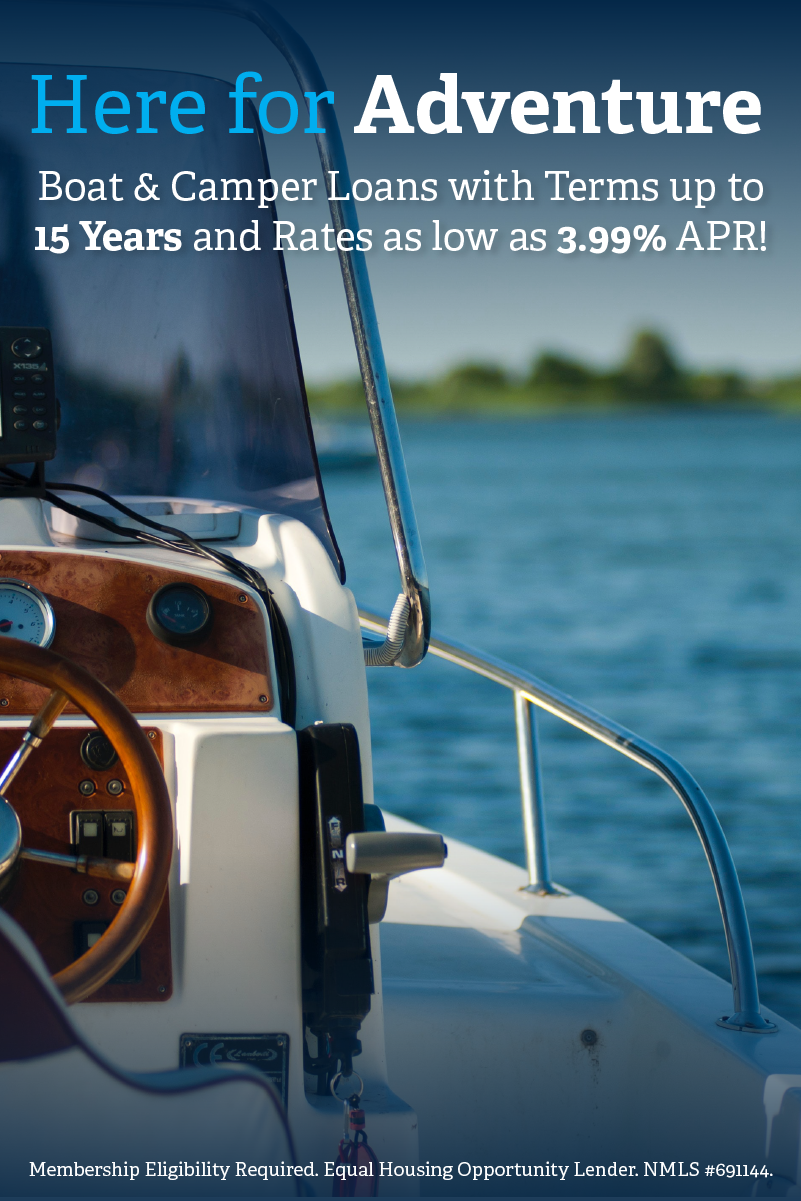 Here for Adventure! Boat & Camper Loans | Rates as low as 3.99% APR
