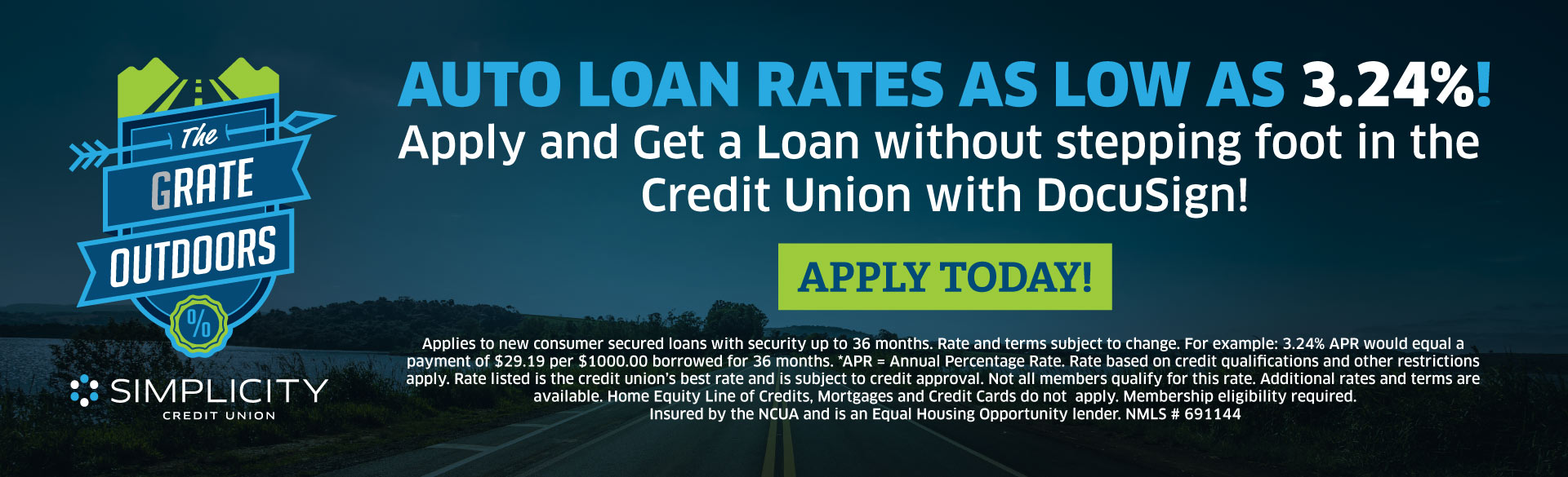 Great Rates at Simplicity Credit Union