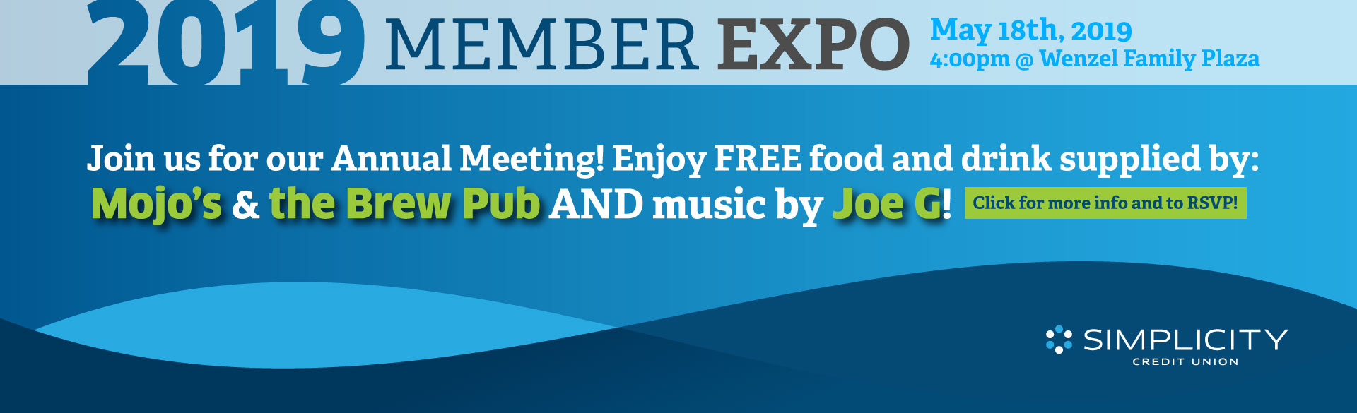 Join us for our Annual Meeting! Enjoy FREE food supplied by Mojo's & the Brew Pub AND music by Joe G!